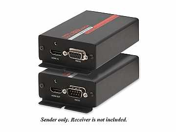 HR-731-S HDMI   RS-232 Fiber Optic Extender Sender by Hall Research