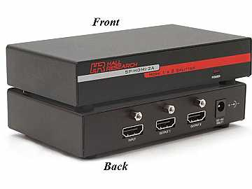 SP-HDMI-2A 2 Channel HDMI Video Splitter/Extender by Hall Research