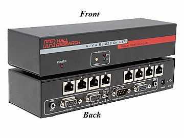 UV232A-8S 1x8 VGA/Audio/RS232 Over UTP Extender (Sender)  Splitter by Hall Research