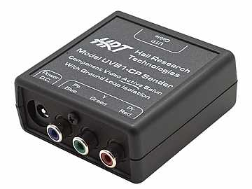 UVB1-CP-S Component Video (YPbPr) Balun Extender (Transmitter) for SD/HDTV by Hall Research