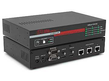 UHBX-3S 1x3 HDMI HDBaseT Splitter/Amplifier 500ft 1080P/4Kx2K/EDID by Hall Research