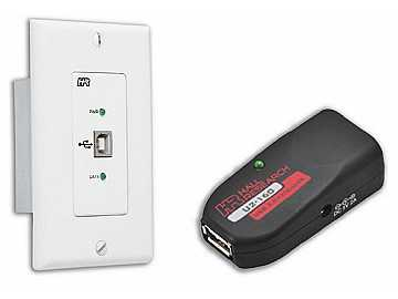 U2-160-DP USB 2.0 over UTP Extender with Wall Plate Local Side by Hall Research