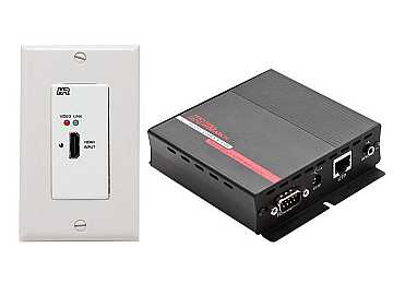 UHBX-WP-P2 HDMI Extender HDBaseT PoH Wall Plate (Sender/Receiver) Kit by Hall Research