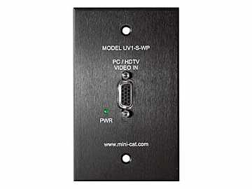 UV1-S-WP Video over UTP Wall Plate Sender by Hall Research