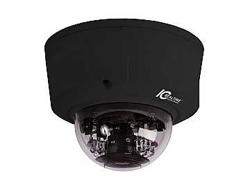 ICIP-D2000VIR-B I/O IP IR DOME/2.0MP/1080P/30FPS CAMERA 60FT IR BLACK by ICRealtime