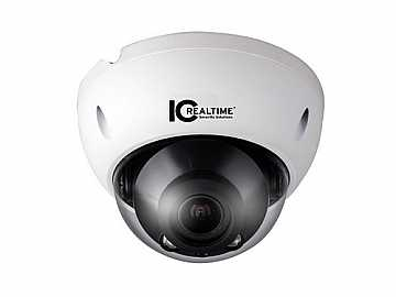 ICIP-D3730 3 MP IP CAMERA IR DOME H.264/JPEG POE 2.8-12MM LENS/IP66 by ICRealtime