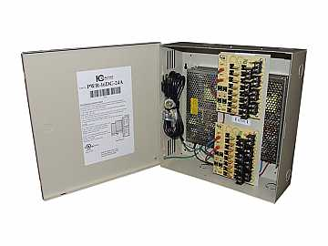 PWR-16DC-24A 16 Channel Fused Power Distribution Box/12Vdc/24 Amps by ICRealtime