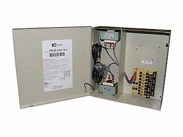 PWR-8AC-8A 8 Channel Fused Power Distribution Box/24Vac/8 Amps by ICRealtime