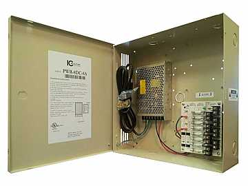 PWR-8DC-8A 8 Channel Fused Power Distribution Box/12Vdc/8 Amps by ICRealtime