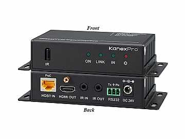 HDBASE70POER 4K HDBaseT 70-Meter HDMI Extender (Receiver) with PoE by KanexPro