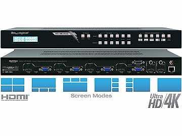 KD-MLV4x2 4x2 I/O Ultra HD/4K MultiViewer Seamless Matrix Switcher by Key Digital