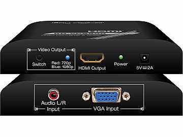 KD-VCS500 VGA/Analog Audio to Digital HDMI and Audio Converter by Key Digital