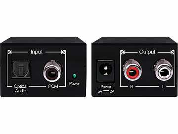 KD-DAXAA Digital Coaxial/Toslink Audio to Analog L/R Audio Converter by Key Digital