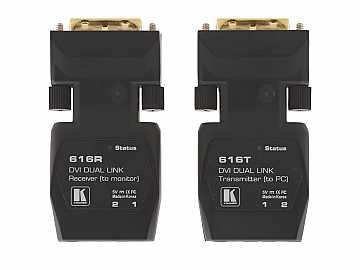 616R/T Dual Link Detachable DVI Optical Extender (Transmitter/Receiver) Kit 1640ft by Kramer