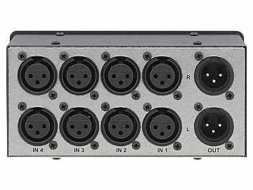 VS-4X 4x1 Balanced Stereo Audio Mechanical Switcher by Kramer