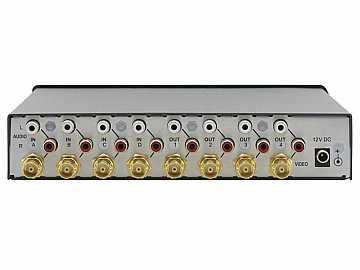 VS-6EIII 4x4 Composite Video and Stereo Audio Matrix Switcher (265MHz) by Kramer