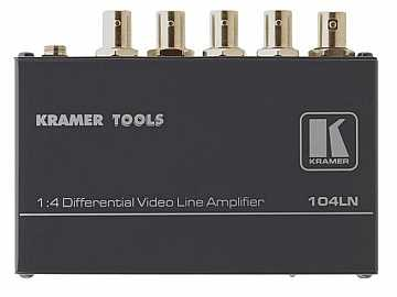 104LN 1x4 Composite Video Differential Line Amplifier by Kramer
