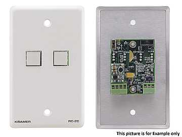 RC-2C(G) Wall Plate - RS-232 and IR Controller - Gray by Kramer