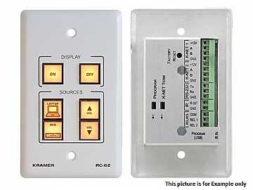 RC-62(B) 6-Button Room Controller with Printed Group Labels/Black by Kramer