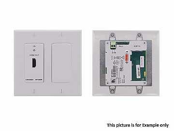 WP-580R/D(B) HDMI over HDBaseT WP Extender (Receiver) - Decora Style/Black by Kramer