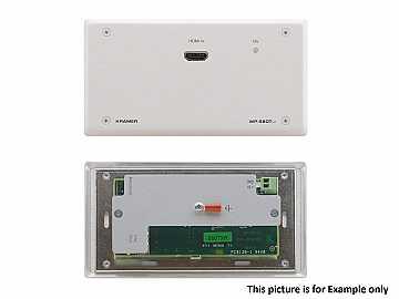 WP-580TXR/D(B) HDMI Extended Range HDBaseT Extender (Transmitter)/Decora Style/Blk by Kramer
