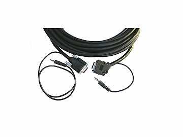 CP-GMA/GMA/XL-25 15-pin HD (M-M)   3.5mm Plenum Cable/ Molded Straight to Backshell 45 - 25ft by Kramer