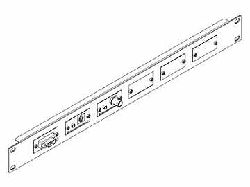 RK-WP6 19-Inch Rack Adapter for Single Wall Plate Inserts by Kramer