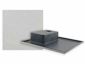 SPK-C815(W) Mono Half 2x1 Ceiling Tile Speaker w No bass reflex by Kramer