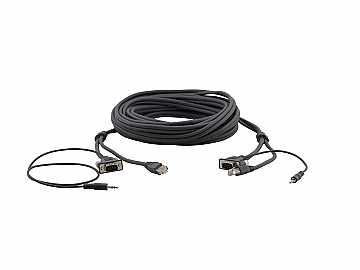 C-GMAC/GMAC-10 15-Pin HD/ 3.5mm/   RJ-45 (M-M) Cable - 10ft by Kramer