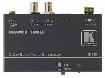 810 Composite Video and s-Video Color Bar/Audio Tone Generator by Kramer