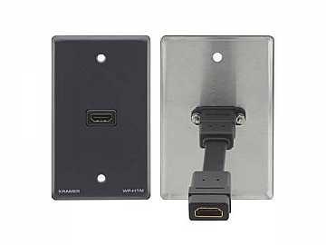 WP-H1M(G) HDMI (F) to HDMI (F) Wall Plate/Gray by Kramer