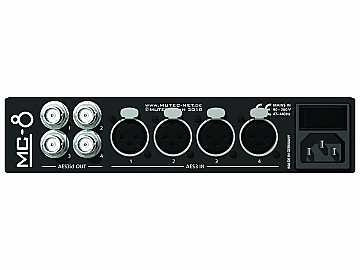 MC-8 Multichannel interface/sampling rate converters for AES3/AES3id by Mutec