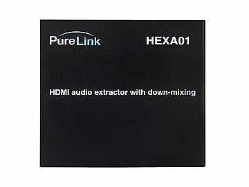 HEXA01 HDMI Audio Extractor w PCM Multi to 2 Ch Downmixing (Ultra HD) by PureLink