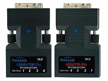 OLC Tx/Rx DVI over Fiber Optic Extender Kit (Transmitter/Receiver) Kit with/cable by PureLink