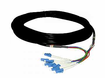 FLC4-010 Multi-Mode 4 LC Fiber Optic Cable w TotalWire Technology - 10m by PureLink
