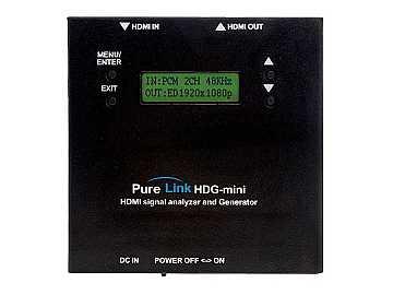 HDG-mini HDMI/DVI Full HD Signal Analyzer by PureLink