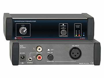 EZ-MPA1 Microphone Preamplifier - Stereo Output with Compressors by RDL