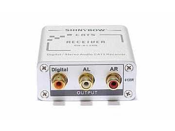 SB-6135R Composite Video/Digital and Stereo Audio Extender (Receiver)/Cat5 by Shinybow