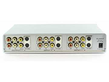 SB-5430 4x2 Composite/S-Video/Audio Routing Switcher (IR) by Shinybow