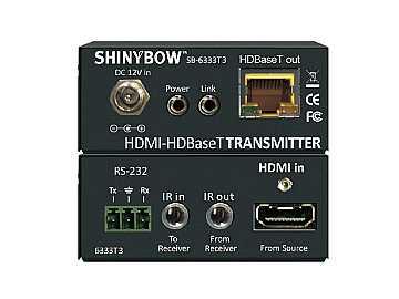 SB-6333T3/R3-KIT HDMI/IR/RS-232 HDBaseT 328Ft CAT6 Extender (IR/RS-232) by Shinybow