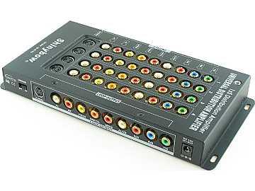 SB-3750 1x5 Component/Composite/S-Video/Audio Amplifier Splitter by Shinybow