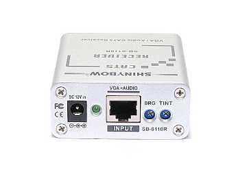 SB-6110R Cat5/VGA/RGBHV/HDTV Stereo Audio Extender (Receiver) by Shinybow