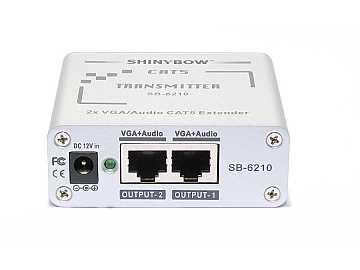 SB-6210T CAT5 - VGA RGBHV - Stereo Audio Extender (TRANSMITTER) by Shinybow
