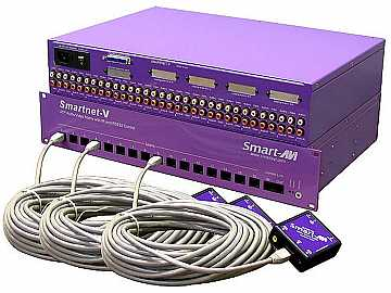 SNV48X16S 48x16 Composite Video/Audio/IR CAT5 Matrix Switcher  RS-232 Control by Smartavi