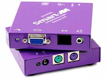 SX-200S Video/Audio/PS2 CAT5 Extender (Transmitter/Receiver) Kit (500ft/1600x1200) by Smartavi