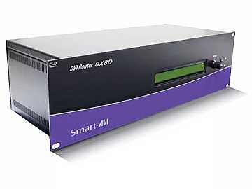DVR8X8DS 8x8 DVI-D Router Multiple EDID Support 1920 x 1200 by Smartavi