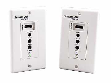 HDX-W100S HDMI/IR/CAT5e/6 Wall Plate Extender (Transmitter/Receiver) Kit by Smartavi