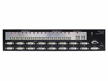 DVN-16PROS 16x1 DVI-D/USB2.0/1.1 /Stereo Audio KVM Switcher by Smartavi