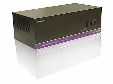 DVN-4QUADS 4x4 DVI-D/USB2.0/1.1 /Stereo Audio KVM Switcher by Smartavi