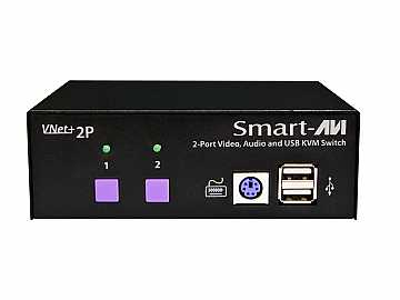 VNET 2PS 2x1 USB KVM Switch with Stereo Audio/VNET by Smartavi